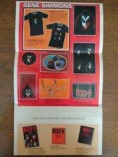 Vintage Kiss Army Gene Simmons Merchandise Mail In Brochure