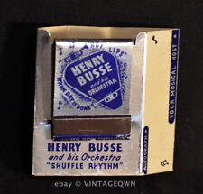HENRY BUSSE ORCHESTRA - MATCHES & CIGARETTE CASE WITH BLANK AUTOGRAPH