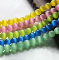 Lots 50Pc Cats Eye Gemstone Round Loose Spacer Bead Charms Jewelry Findings 8mm