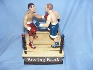 Boxing Money Box Cast Iron Money Bank Mechanical Moving