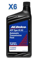 6 Quarts Automatic Transmission Fluid AcDelco GMC OEM Dexron III(H)