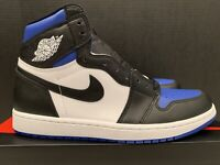 Nike Air Jordan 1 Retro High OG 10.5 DS 555088-041 Black Blue Royal Toe 2020 I !