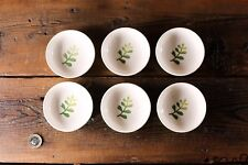 Set 6 Small Ceramic Dipping Dishes Dip Bowls Sauce Dish Condiment Tomato Dinning