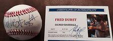 Fred Durst -limp Bizkit Signed Baseball TWO COA'S LIFETIME ON SIGNATURE RARE