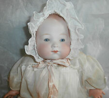 "20"" KiddieJoy AM Bisque Head Baby Doll Cloth Body w/ Celluloid Hands # 3_5"