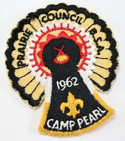 Vintage 1962 Camp Pearl Prairie Council Turkey Boy Scouts America Camp Patch