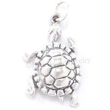 TURTLE Charm Bracelet Pendant TORTOISE Jewelry 925 STERLING SILVER animal .925