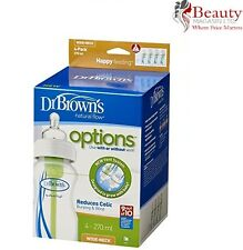 Dr Brown's Options Wide Neck Four Bottle 270 ml, Pack of 4