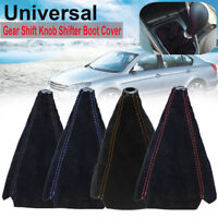 1X Vehicle Car Manual Gear Stick Shift Knob Cover Boot Gaiter W/ Suede Leather