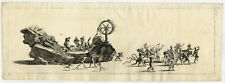 Rare Antique Print-20-PROCESSION-CARNIVAL-DEVILS-PUNISHMENTS-FLOAT-Klotzel-1696