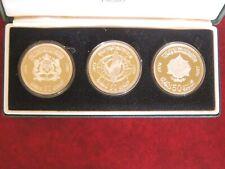 Coffret Proof trois pièces Maroc argent Morocco