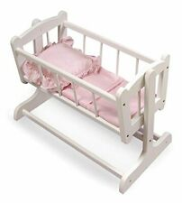 Badger Basket Heirloom Style Doll Cradle with Blanket & Pillow (fits American...
