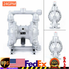 New Listingair Operated Double Diaphragm Pump 24 Gpm 1 Inlet Amp Outlet 12 Inch Air Inlet