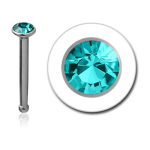 316L Surgical Steel Nose Bone Stud Tiny Micro Small 1mm Stone 20 Gauge 20G