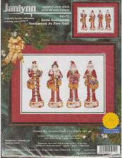 Santa Sentiments Christmas Cross Stitch Kit Marjorie Sarnat USA Made