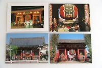 4 x Kaminarimon Gate Asakusa Tokyo Tokio Japan Postkarten Post Cards Bauwerke