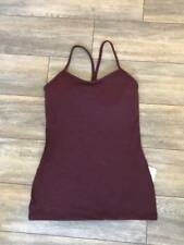 Lululemon Women's Power Y Tank Bordeaux Drama BRDR Size 4