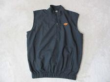 Footjoy Golf Vest Adult Small Black Orange Quarter Zip Foot Joy Golfer Mens