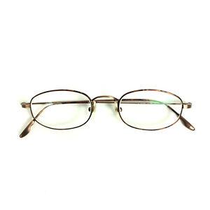 Calvin Klein Eyeglasses Frames 145 552 Brown Tortoise Metal Oval 47 20 140