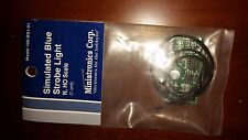 Miniatronics HO Scale Simulated Strobe Blue Strobe Light  NIP 100-BS1-01