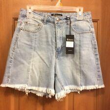 Apriljeans Blue Jean Shorts Cutoffs Faded Misses Size Large NEW
