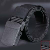 Wild Men's Canvas Belt Casual Fast Dry Plastic Automatic Buckle~