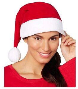 Family Pajamas Unisex Santa Hat Super soft(Red, One Size)