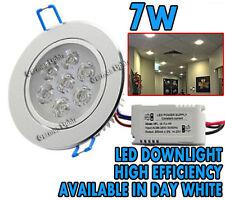 * 7W LED Luz de Techo Lámpara Foco empotrado abajo en día Mancha Blanca 240v