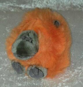 "Puffkins Bean Bag - 5"" Omar The Orange Orangutan Ape  1994 Vintage"