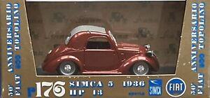 1/43 Brumm R176 Simla 5 Topolino 1936 HP13 Road Car in Red Mint & Boxed