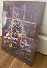 LED Wandbild Beleuchtung Weihnachten Baum Leuchtbild 40x30cm Ein-/Ausschalter