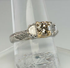 Diamond Engagement Ring Half Moon & Round 1.68cttw Platinum Hallmarked H.O.R