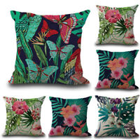 "18"" Tropical Plant Sofa Cushion Cover Waist Throw Pillow Case Home Car Decor"