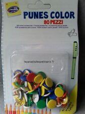 80 punaises couleurs  ,punaises , 1 boite de 80 punaises en couleurs