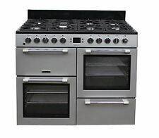 Leisure Range Cooker CK100F232S Dual Fuel 2 Ovens 7 Burner 100 cm Silver #2038