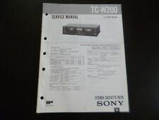 Original Service Manual Schaltplan Sony  Sony TC-W200