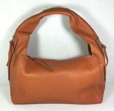 Ombu Orange Pebbled Leather Shoulder Bag