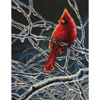 """Dimensions Counted Cross Stitch Kit 11""""X14""""-Ice Cardinal (14 Count)"""