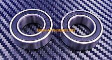 [QTY 5] (12x28x8 mm) 6001-2RS HYBRID CERAMIC Si3N4 Ball Bearing (Black) 6001RS