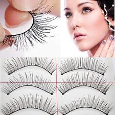 Natural Long 10 Pairs Thin Fake False Eyelashes Eye Lash Clear Makeup Tool BEST