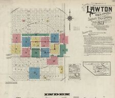 Lawton, Oklahoma~Sanborn Map© sheets~with 52 maps in full color~1904 to 1923