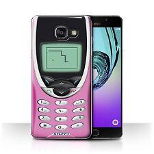 STUFF4 Hülle/Case für Samsung Galaxy A5 (2016)/Rosa Nokia 8210/Vintage Handys
