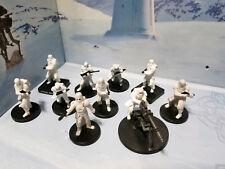 LOT - Star Wars Miniatures Imperial Snowtrooper / Stormtrooper Hoth Snow E-Web