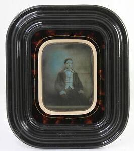 DAGUERREOTYPE en format demi plaque Jeune homme France Vers 1850