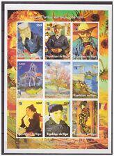 0747 Niger 1998 Painter Vincent van Gogh S/S MNH