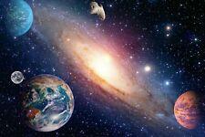 Photo Wall Mural-EARTH PLANET-(4408)-NON WOVEN-Wallpaper-Space Stars Sky Sun XXL