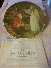 The Snow Queen By Norman Rockwell First Edition 1979 Collectable Plate