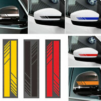 2X Vinyl Rearview Mirror Car Sticker Racing Stripe Decal Emblem Decor 6Color
