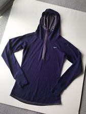 c00d69fdf668 Color  Black. EUC Nike Womens Dri-Fit Wool Running Snap Hoodie Eggplant Sz  S Small 746790