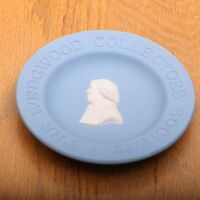 Wedgwood Collectors Society Blue Jasperware Round Pin Tray Trinket Dish